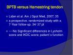 bptb versus hamestring tendon