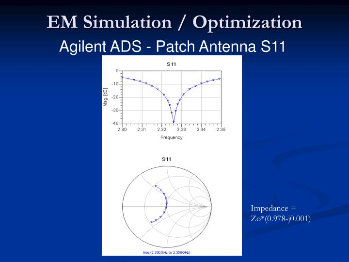 Agilent Network Simulator : Ppt sdars receiver front end design review powerpoint