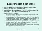 experiment 2 first wave