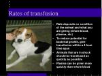 rates of transfusion