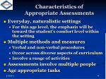 characteristics of appropriate assessments