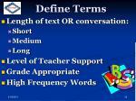 define terms