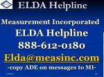elda helpline