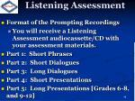 listening assessment
