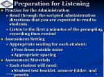 preparation for listening