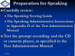 preparation for speaking1