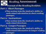 reading assessment