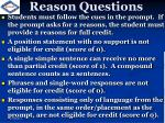 reason questions