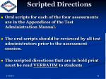 scripted directions