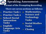 speaking assessment