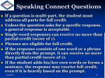 speaking connect questions
