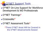 o net support tools