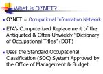 what is o net