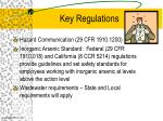 key regulations