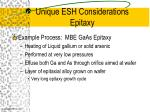 unique esh considerations epitaxy1
