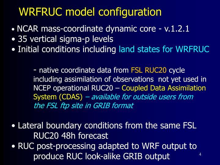 WRFRUC model configuration