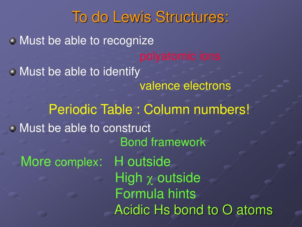 Ppt - Lewis Dot Structure Rules  Powerpoint Presentation  Free Download