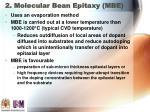 2 molecular bean epitaxy mbe