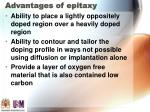 advantages of epitaxy