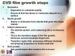 cvd film growth steps
