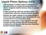 liquid phase epitaxy lpe