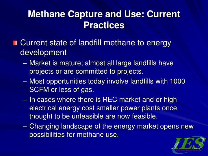 Methane Capture and Use: Current Practices