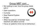 group mbt cont