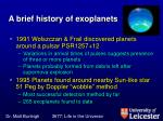 a brief history of exoplanets