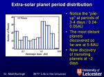 extra solar planet period distribution