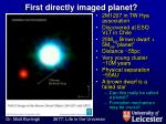 first directly imaged planet