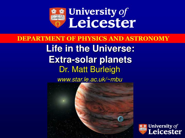 life in the universe extra solar planets n.