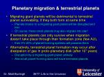 planetary migration terrestrial planets