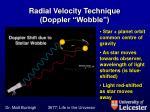 radial velocity technique doppler wobble
