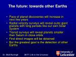 the future towards other earths