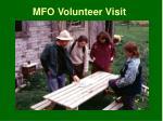 mfo volunteer visit