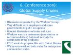 6 conference 2016 global supply chains