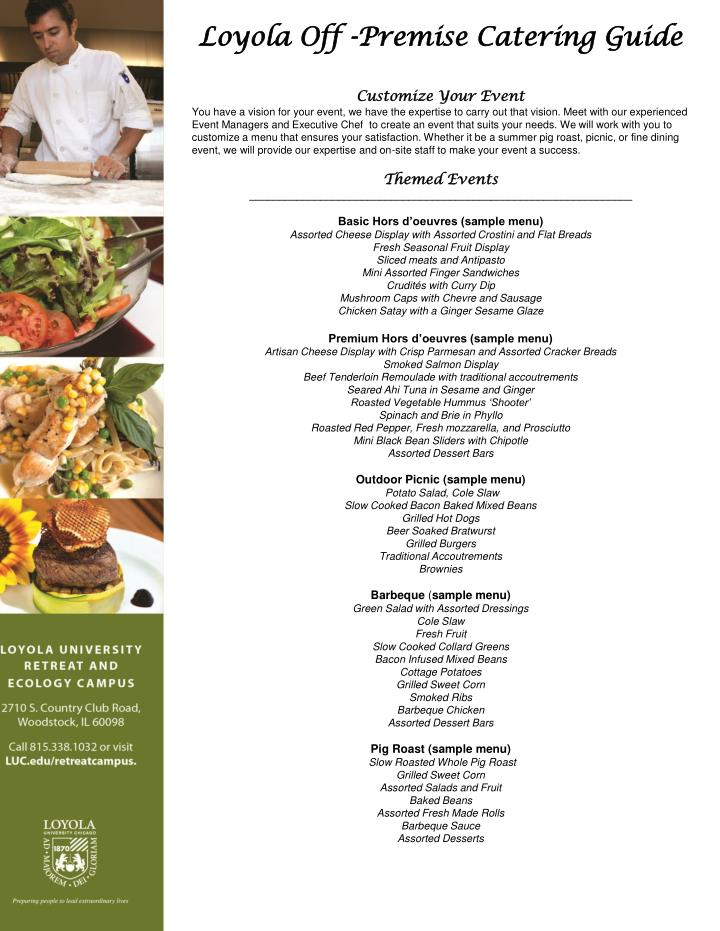 Loyola Off -Premise Catering Guide