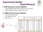 experimental studies graph mining i