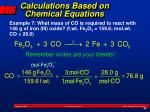calculations based on chemical equations1