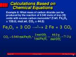 calculations based on chemical equations2