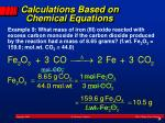 calculations based on chemical equations3