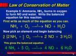 law of conservation of matter1