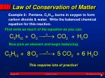 law of conservation of matter2