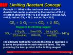 limiting reactant concept1