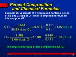 percent composition and chemical formulas1