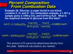 percent composition from combustion data