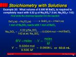 stoichiometry with solutions