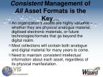 consistent management of all asset formats is the key