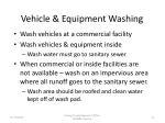 vehicle equipment washing
