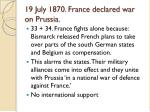 19 july 1870 france declared war on prussia